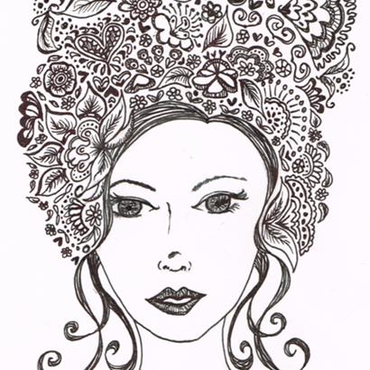 Flower Hair 1