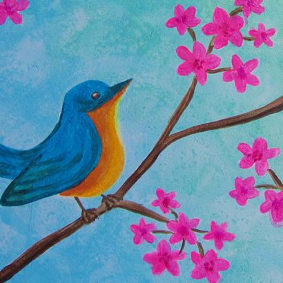 Birds & Cherry Blossom